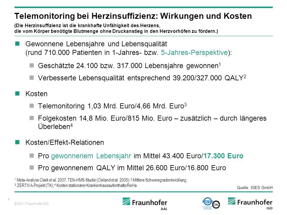 © 2011 Fraunhofer IGD 7 Aber wer soll das bezahlen.
