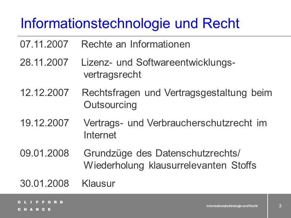 Informationstechnologie und Recht 63 In der Regel1.