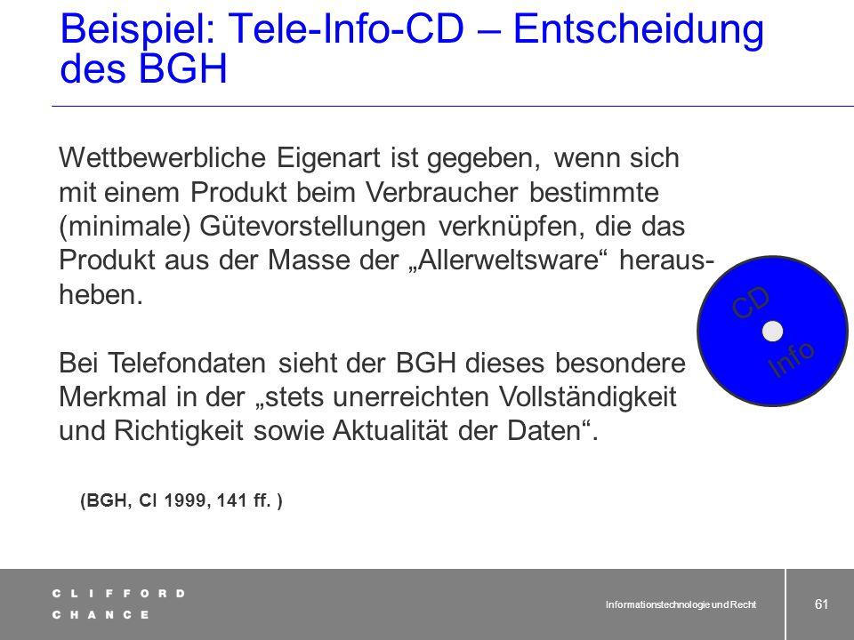 Informationstechnologie und Recht 60 Ergänzender Leistungsschutz nach §§ 3, 4 Nr. 9 lit. a) UWG, Sklavische Nachahmung mit Herkunftstäuschung Schutz v