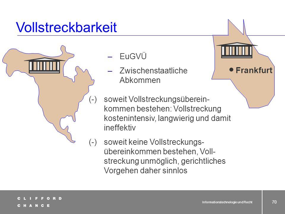 Informationstechnologie und Recht 69 Internet-Anschluss Server § Gerichtsstand ?