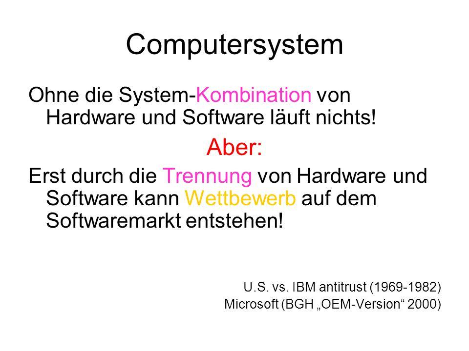 Betriebssystem (Windows, Linux, Oberon,...) Betriebssysteme sind Computerprogramme, die das unmittelbare Zusammenspiel der Hardware (Technik!) eines Computers regeln.