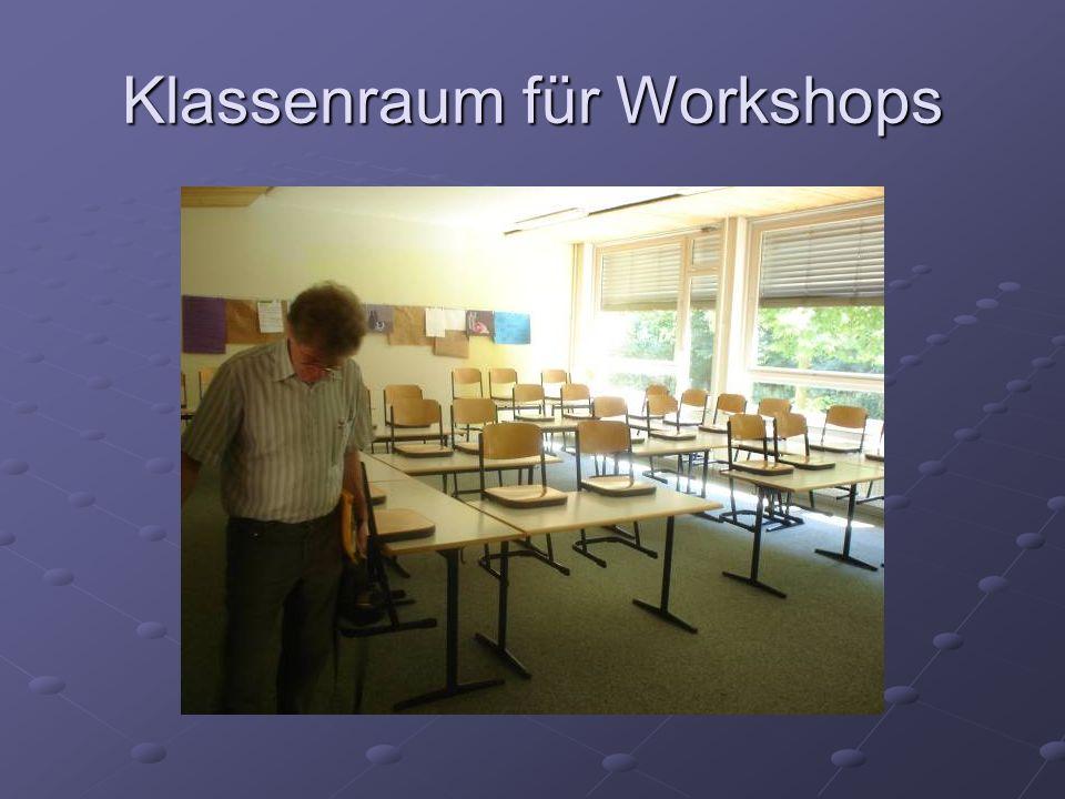 Klassenraum für Workshops