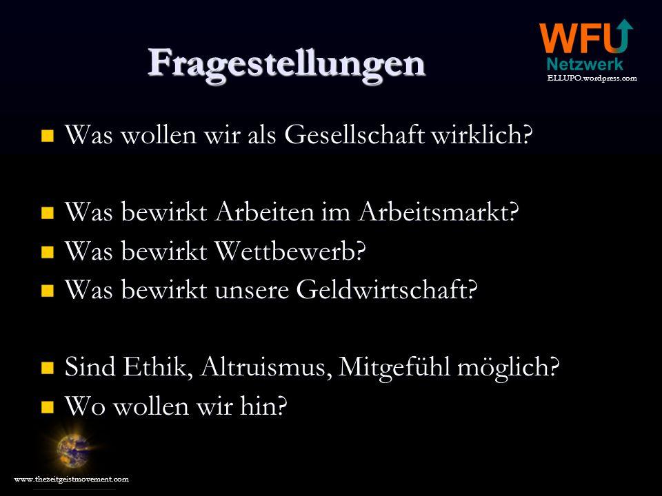 ELLUPO.wordpress.com www.thezeitgeistmovement.com Referenzen Bücher 1.