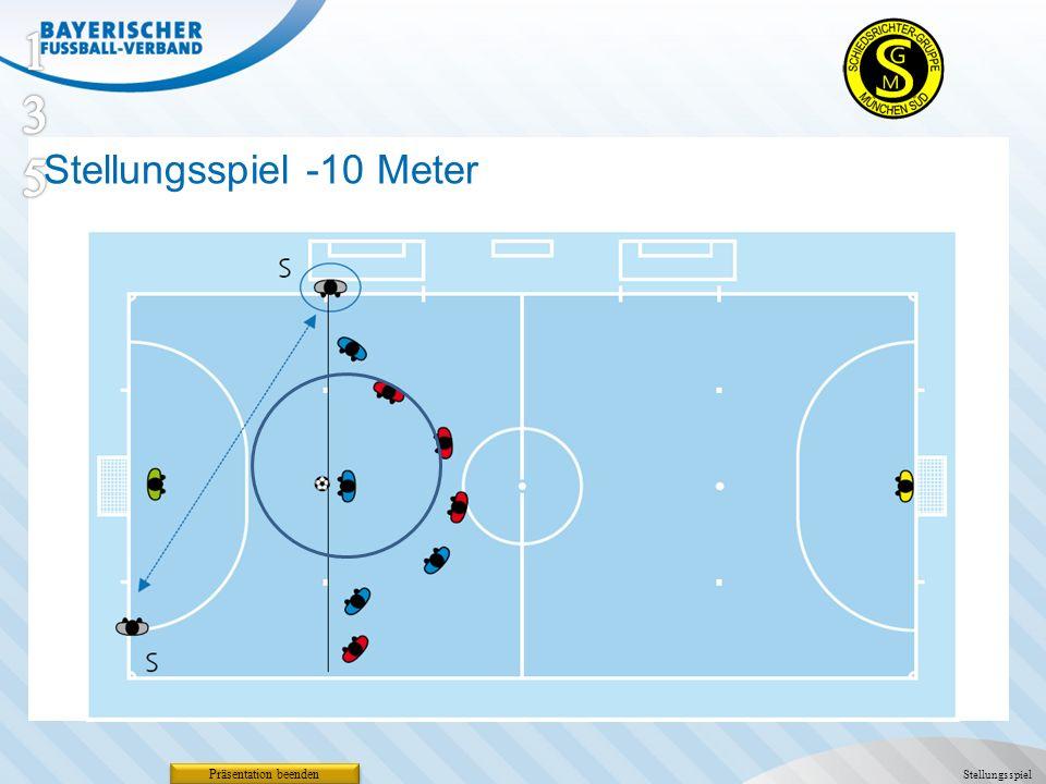 Stellungsspiel -10 Meter Präsentation beenden Stellungsspiel