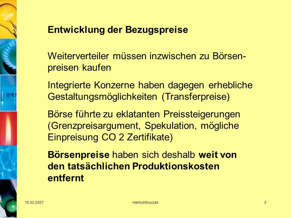 15.02.2007Helmut Kruczek16 Regulierung mit Augenmaß .