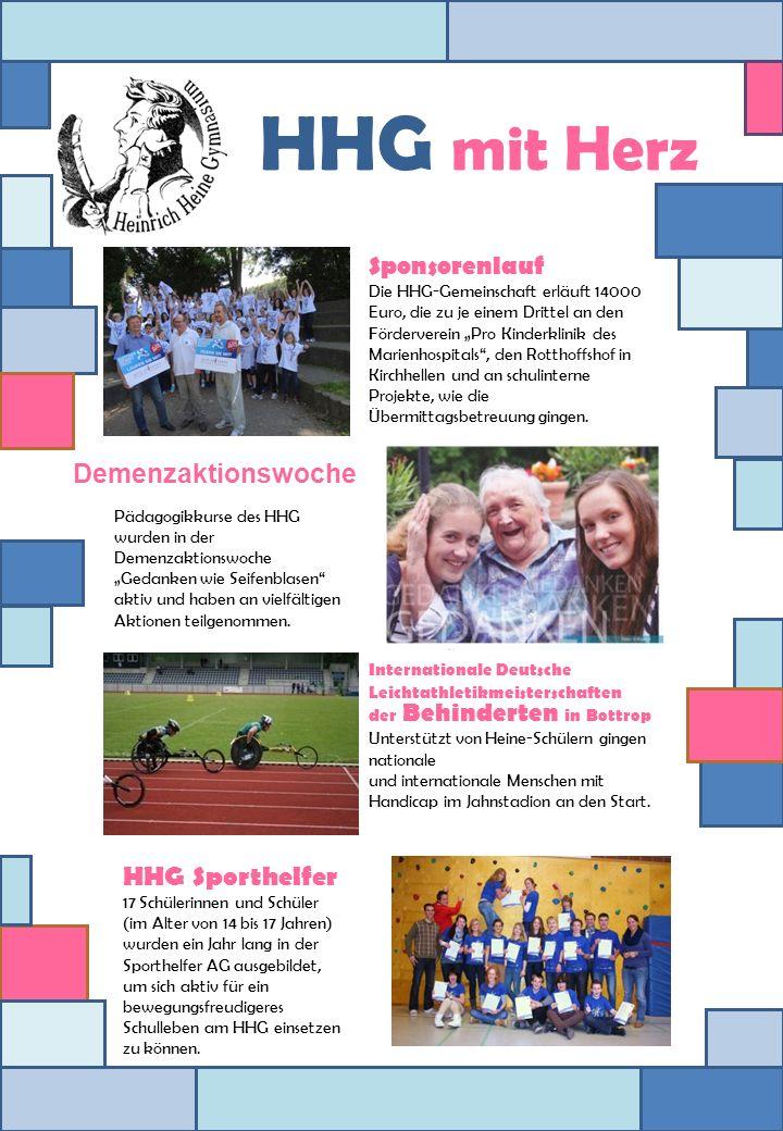 Sponsorenlauf Die HHG-Gemeinschaft erläuft 14000 Euro, die zu je einem Drittel an den Förderverein Pro Kinderklinik des Marienhospitals, den Rotthoffs