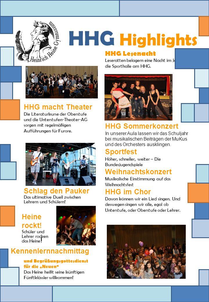 HHG macht Theater Die Literaturkurse der Oberstufe und die Unterstufen-Theater-AG sorgen mit regelmäßigen Aufführungen für Furore. Schlag den Pauker D