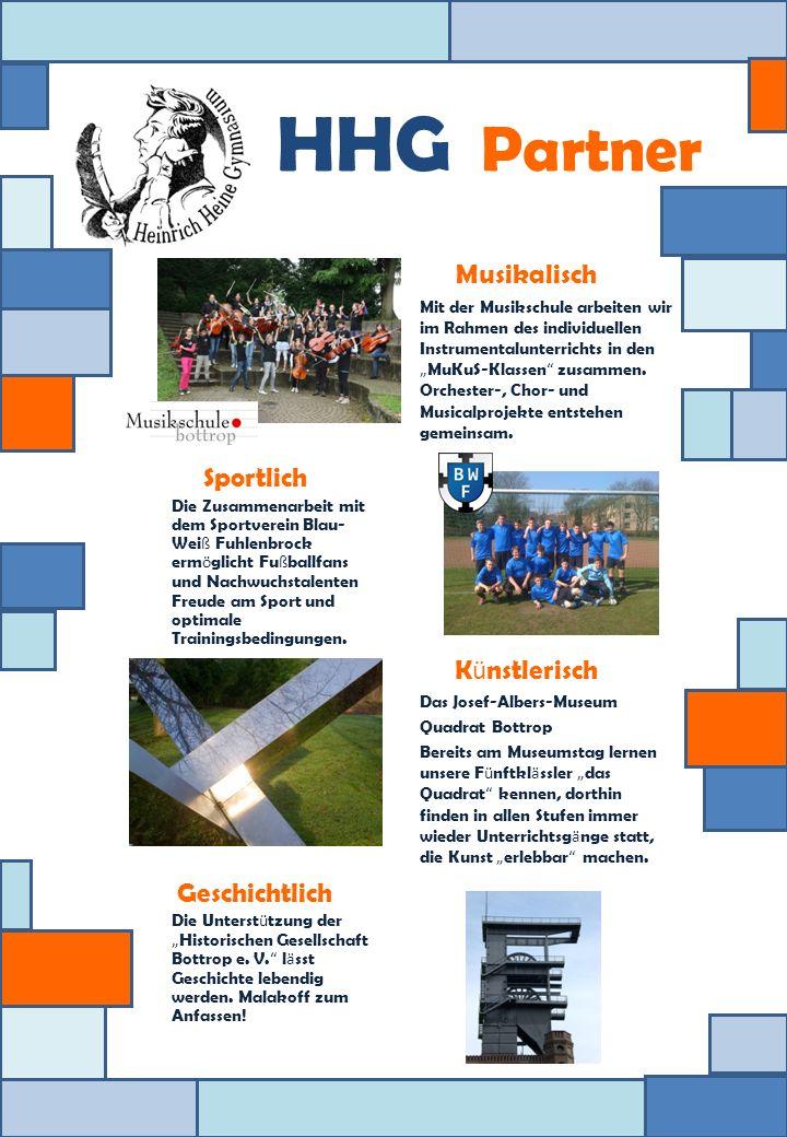 HHG Partner Sportlich Die Zusammenarbeit mit dem Sportverein Blau- Wei ß Fuhlenbrock erm ö glicht Fu ß ballfans und Nachwuchstalenten Freude am Sport