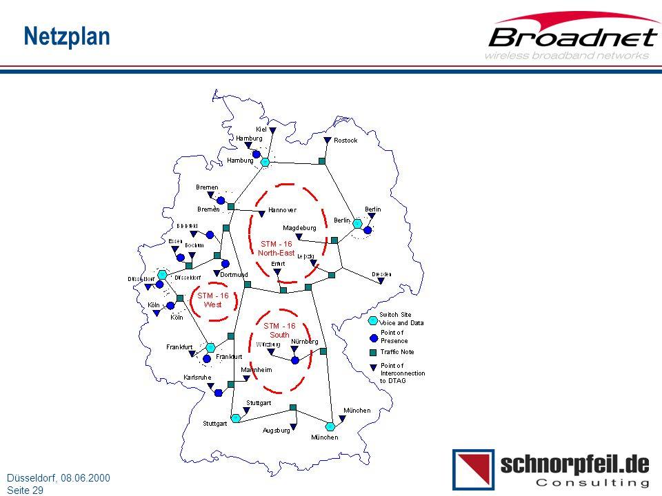 Folie 29München, 15.03.2000 Düsseldorf, 08.06.2000 Seite 29 Netzplan