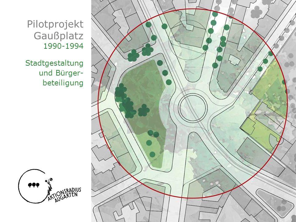 Pilotprojekt Gaußplatz 1990-1994 Stadtgestaltung und Bürger- beteiligung