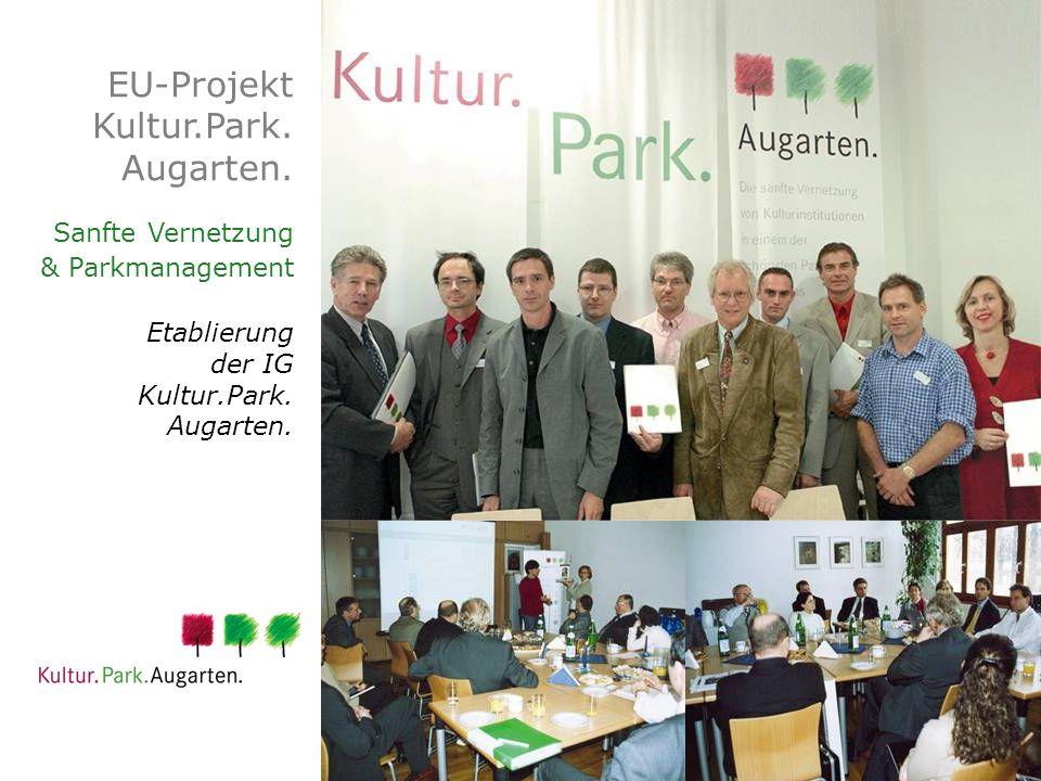 EU-Projekt Kultur.Park. Augarten. Sanfte Vernetzung & Parkmanagement Etablierung der IG Kultur.Park. Augarten.