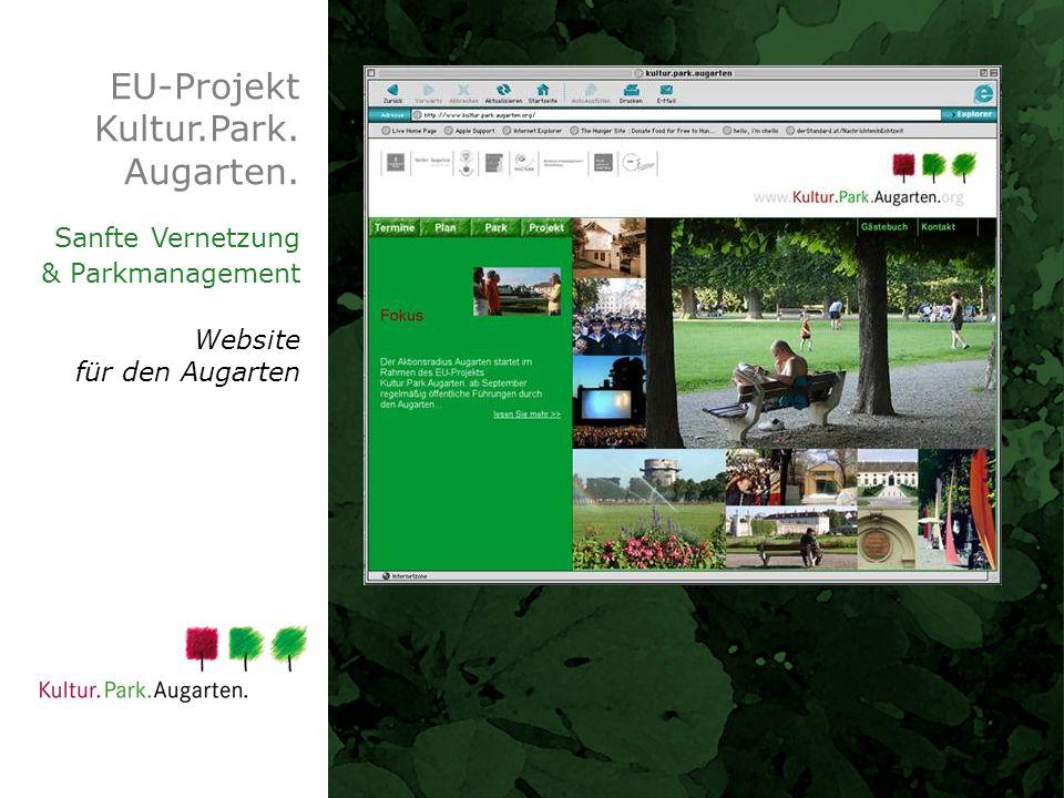 EU-Projekt Kultur.Park. Augarten. Sanfte Vernetzung & Parkmanagement Website für den Augarten