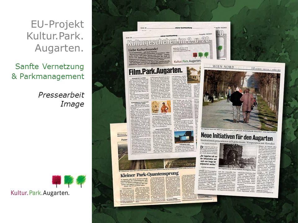 EU-Projekt Kultur.Park. Augarten. Sanfte Vernetzung & Parkmanagement Pressearbeit Image