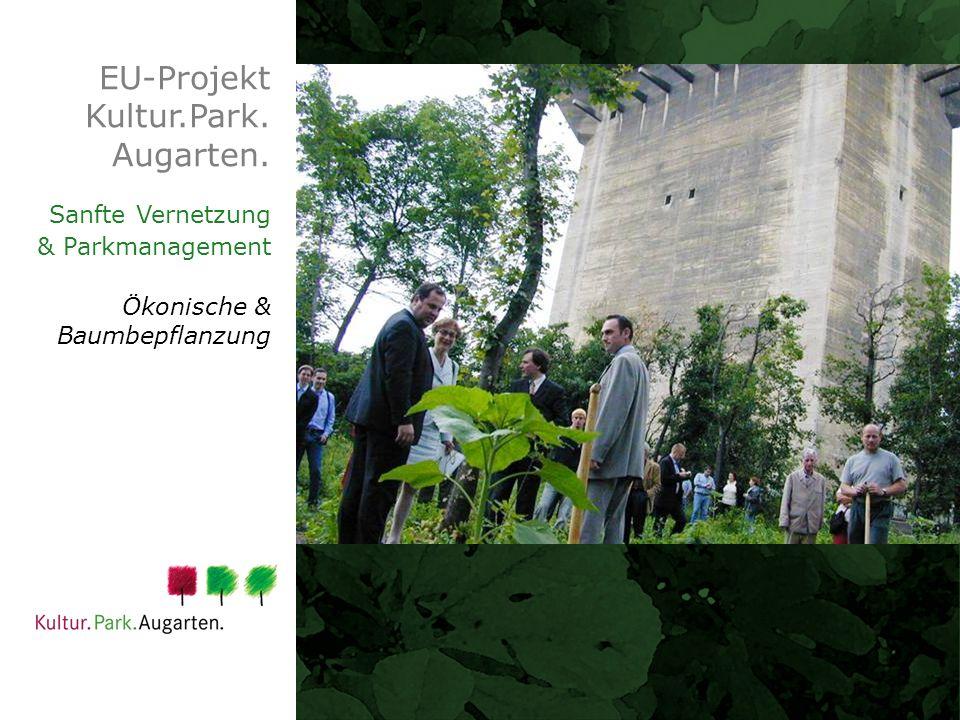 EU-Projekt Kultur.Park. Augarten. Sanfte Vernetzung & Parkmanagement Ökonische & Baumbepflanzung