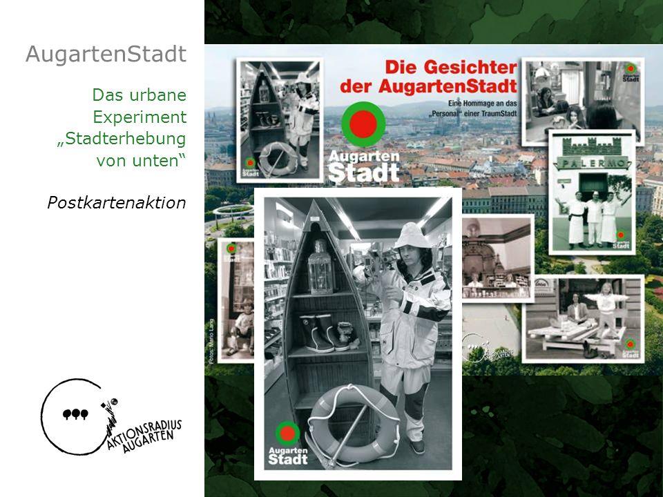 Das urbane Experiment Stadterhebung von unten Postkartenaktion
