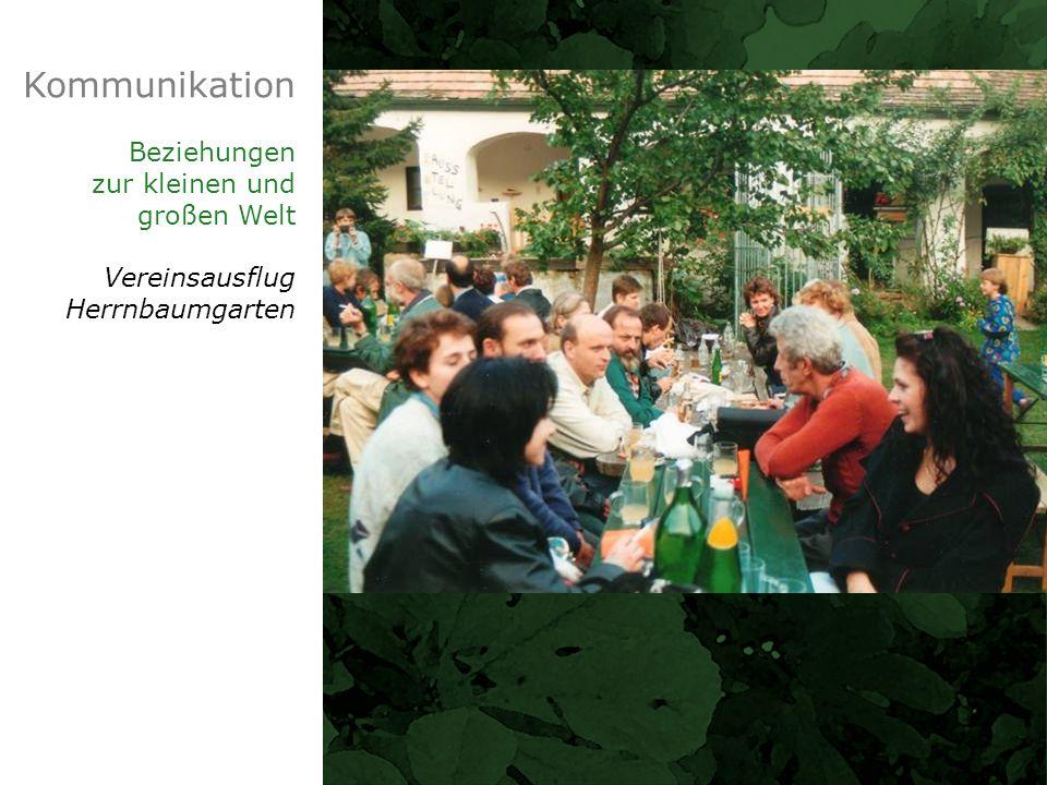 Kommunikation Beziehungen zur kleinen und großen Welt Vereinsausflug Herrnbaumgarten