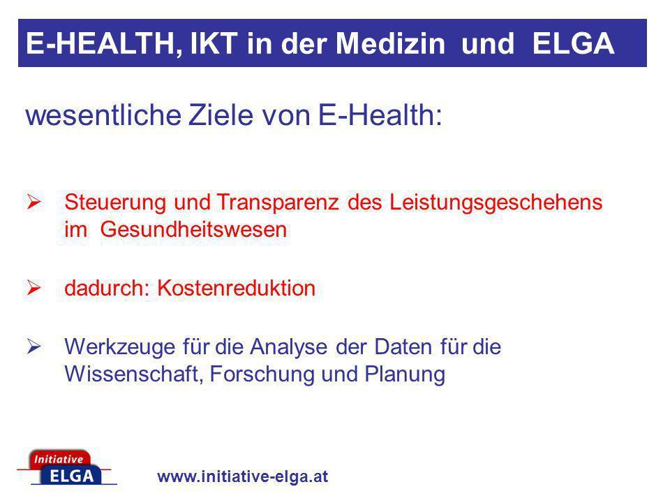 www.initiative-elga.at Steuerung und Transparenz des Leistungsgeschehens im Gesundheitswesen dadurch: Kostenreduktion Werkzeuge für die Analyse der Da
