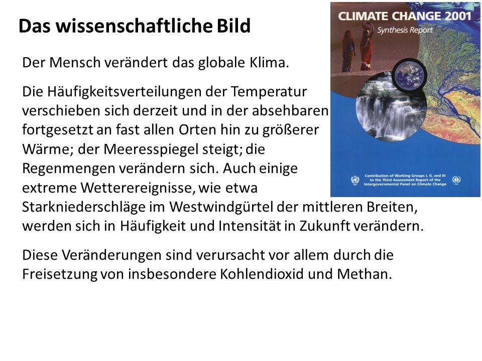 Der Mensch verändert das globale Klima.