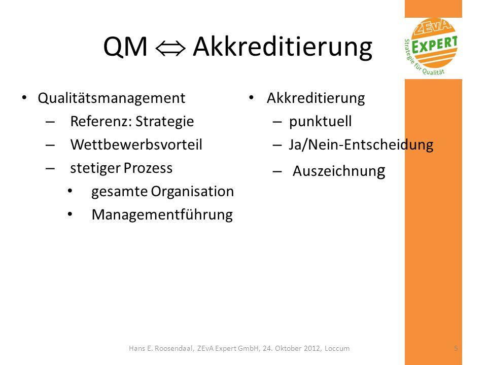 QM Akkreditierung Qualitätsmanagement – Referenz: Strategie – Wettbewerbsvorteil – stetiger Prozess gesamte Organisation Managementführung Akkreditier