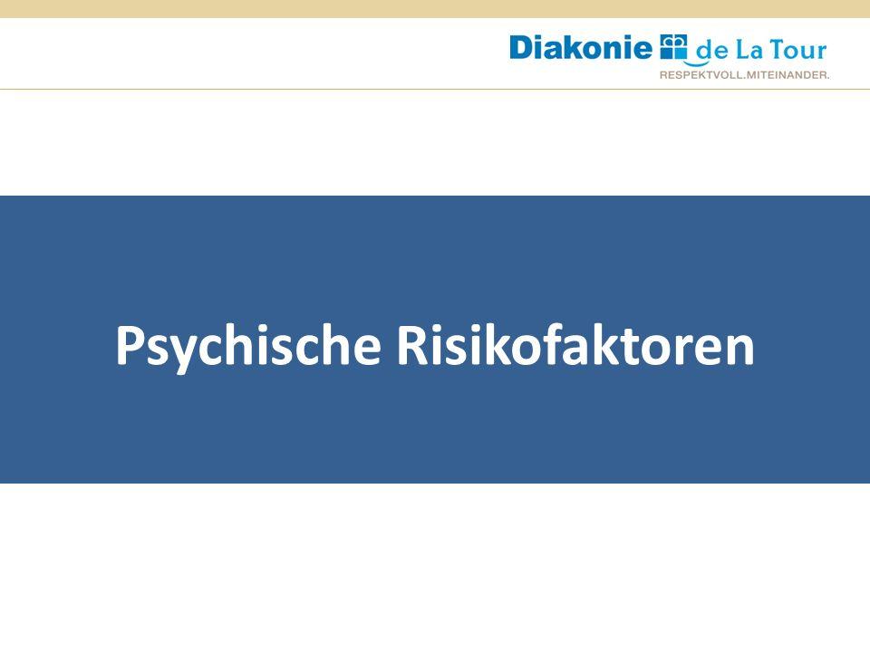 Psychische Risikofaktoren