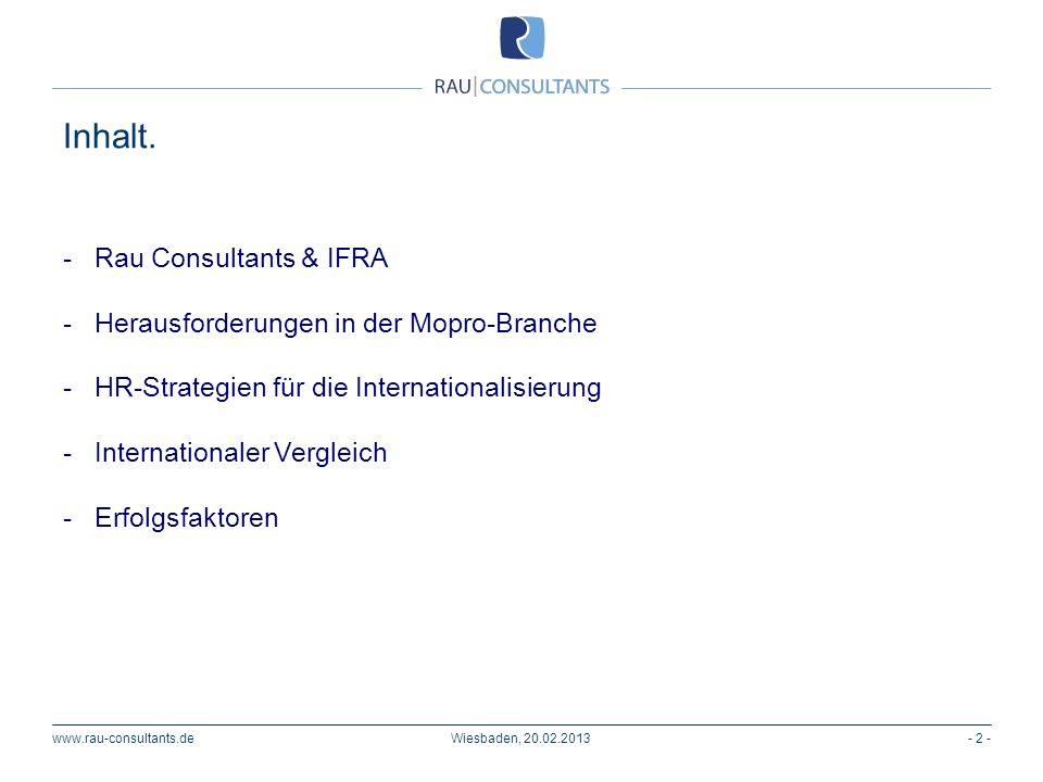 - Rau Consultants & IFRA - Herausforderungen in der Mopro-Branche - HR-Strategien für die Internationalisierung - Internationaler Vergleich - Erfolgsf