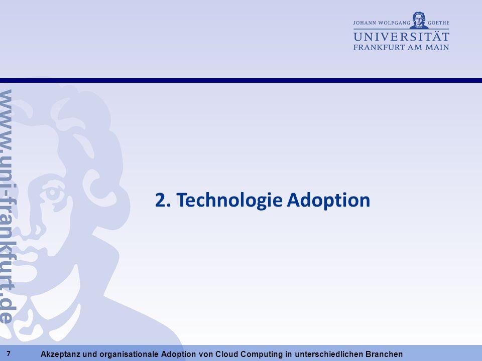 Akzeptanz und organisationale Adoption von Cloud Computing in unterschiedlichen Branchen 7 2. Technologie Adoption