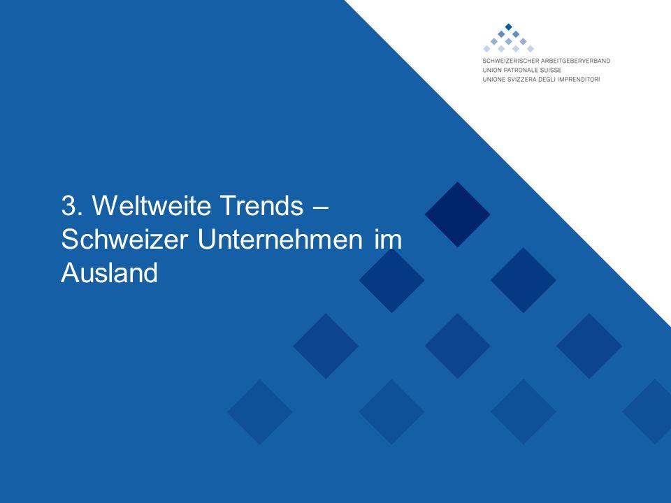 Schweizerischer Arbeitgeberverband, 3. Weltweite Trends – Schweizer Unternehmen im Ausland