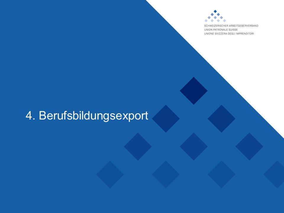 Schweizerischer Arbeitgeberverband, 4. Berufsbildungsexport