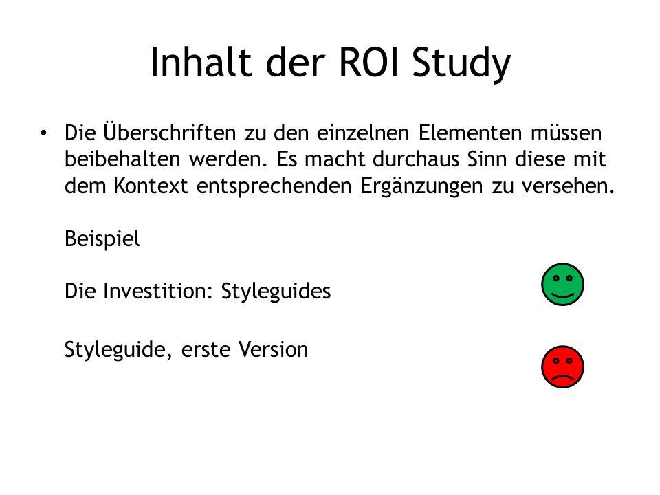 Ihr Titel: ROI Study Firma www.firma.tld Datum