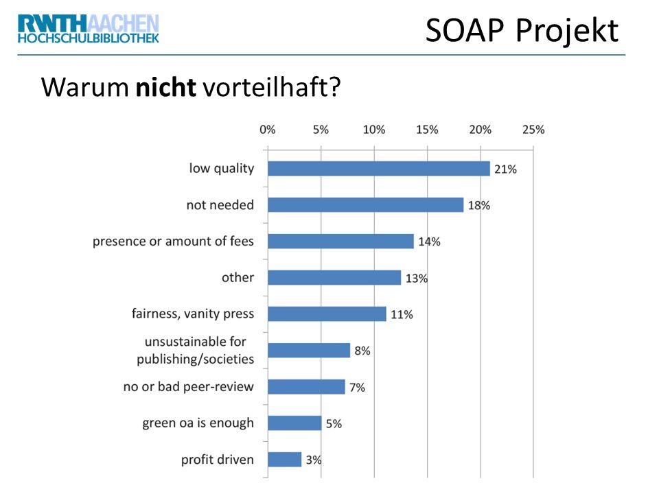 SOAP Projekt Warum nicht vorteilhaft?