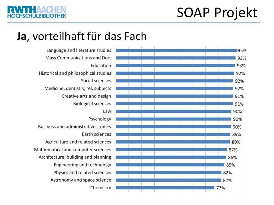 SOAP Projekt Ja, vorteilhaft für das Fach