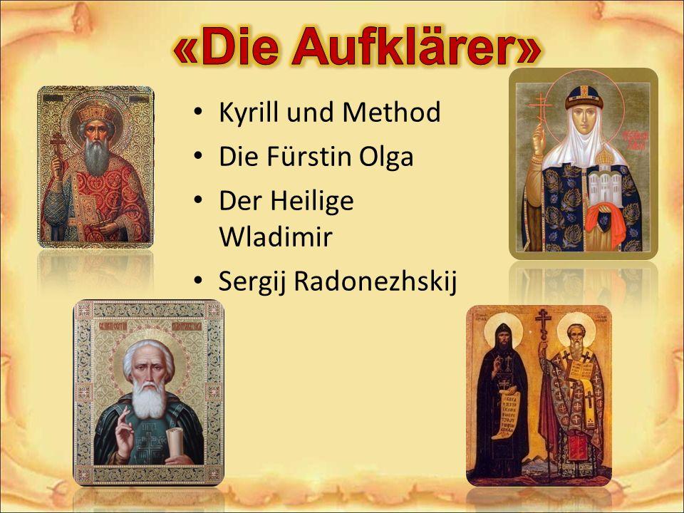 Kyrill und Method Die Fürstin Olga Der Heilige Wladimir Sergij Radonezhskij