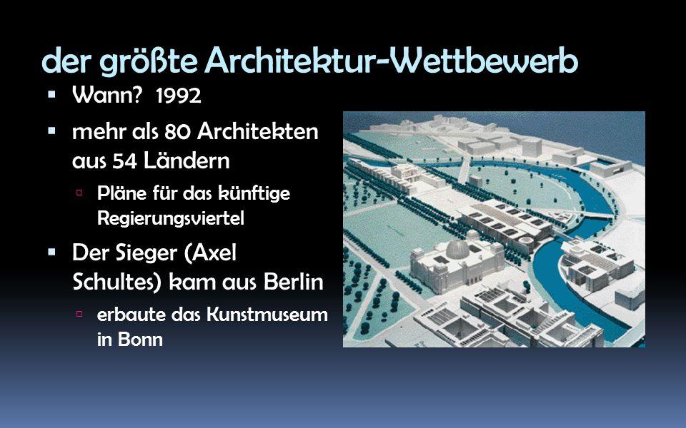 der größte Architektur-Wettbewerb Wann.