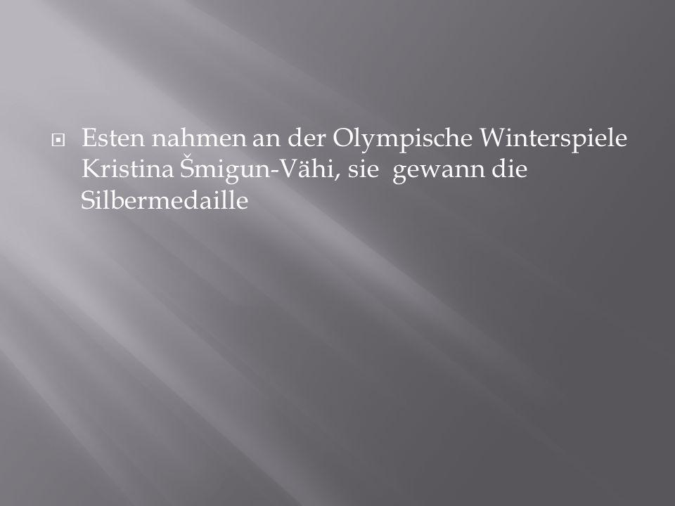 Esten nahmen an der Olympische Winterspiele Kristina Šmigun-Vähi, sie gewann die Silbermedaille