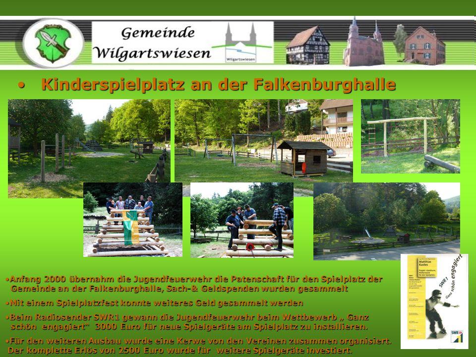 Kinderspielplatz an der FalkenburghalleKinderspielplatz an der Falkenburghalle Anfang 2000 übernahm die Jugendfeuerwehr die Patenschaft für den Spielp