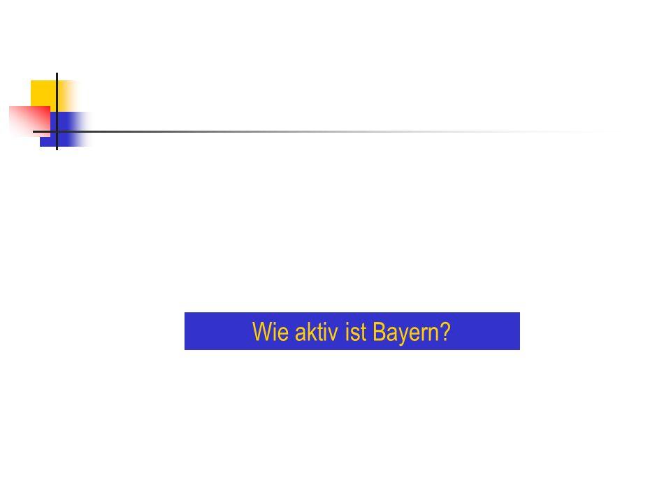 Wie aktiv ist Bayern?