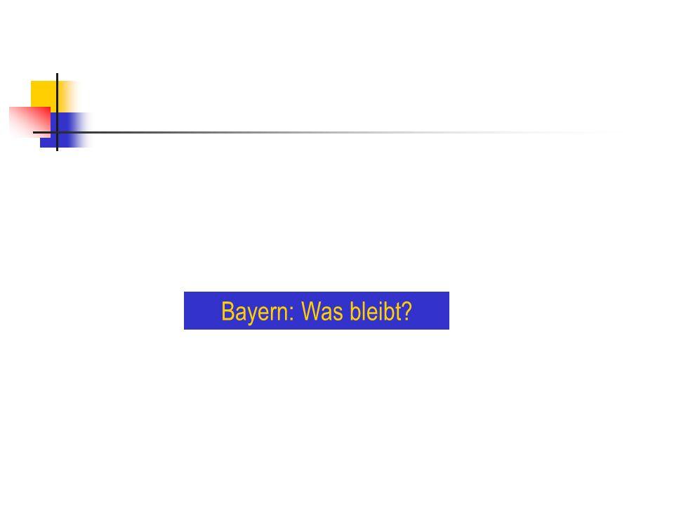 Bayern: Was bleibt?
