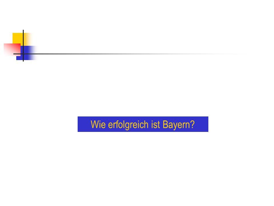 Wo ist Bayern stark, wo schwach?