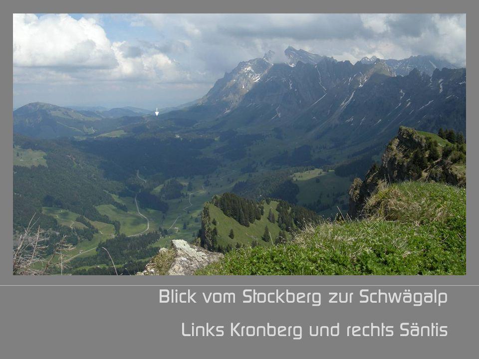 Blick vom Stockberg zur Schwägalp Links Kronberg und rechts Säntis