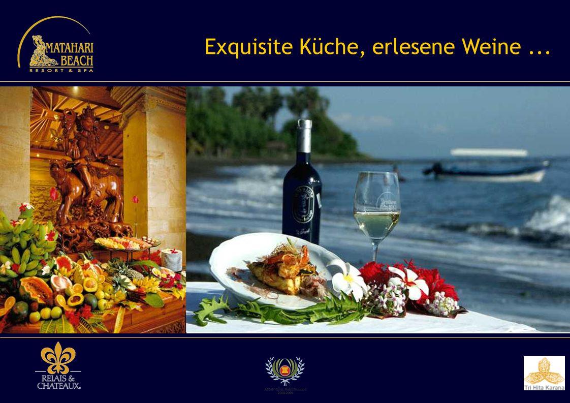 Exquisite Küche, erlesene Weine...