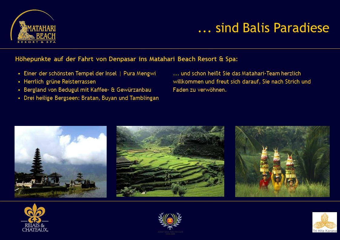 ... sind Balis Paradiese Einer der schönsten Tempel der Insel | Pura Mengwi Herrlich grüne Reisterrassen Bergland von Bedugul mit Kaffee- & Gewürzanba
