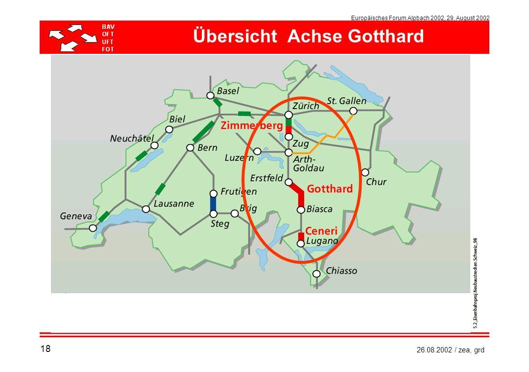 Europäisches Forum Alpbach 2002, 29. August 2002 26.08.2002 / zea, grd Übersicht Achse Gotthard 18