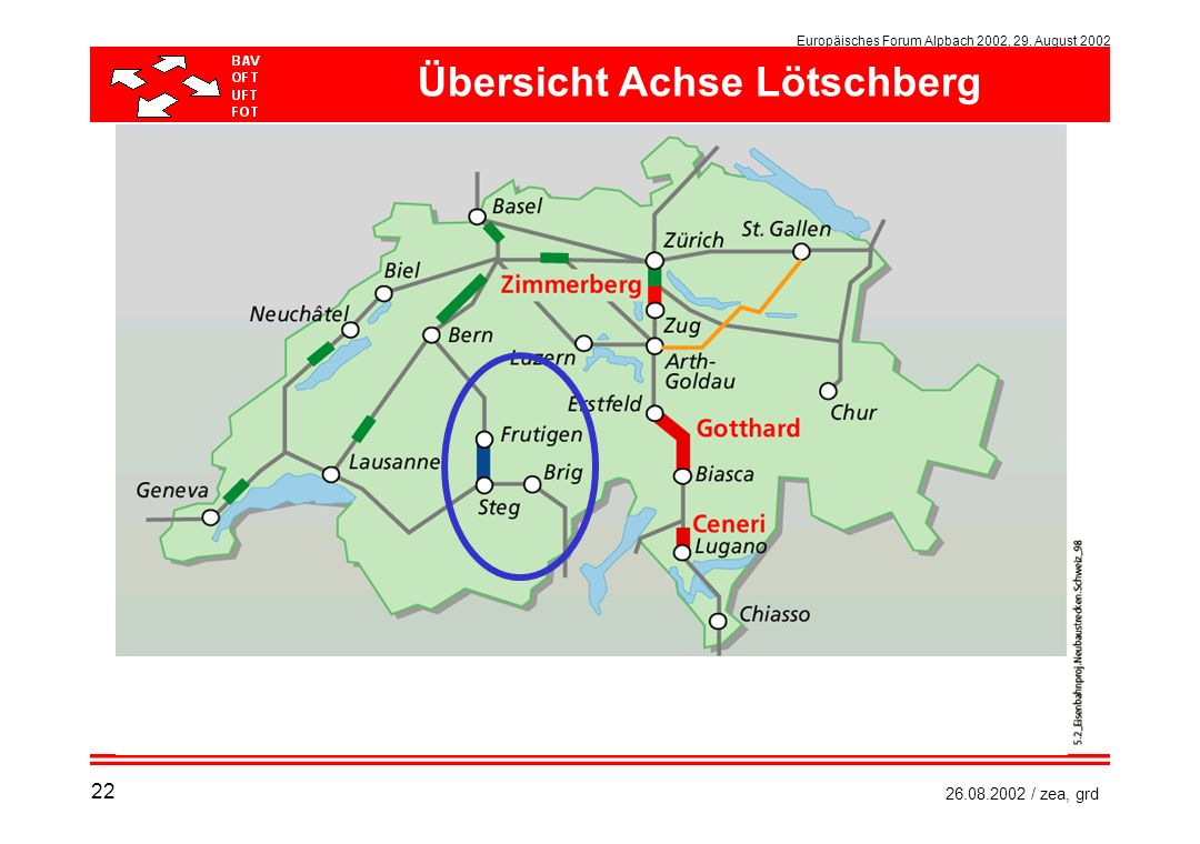 Europäisches Forum Alpbach 2002, 29. August 2002 26.08.2002 / zea, grd Übersicht Achse Lötschberg 22