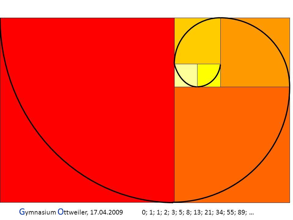 G ymnasium O ttweiler, 17.04.2009 0; 1; 1; 2; 3; 5; 8; 13; 21; 34; 55; 89; …