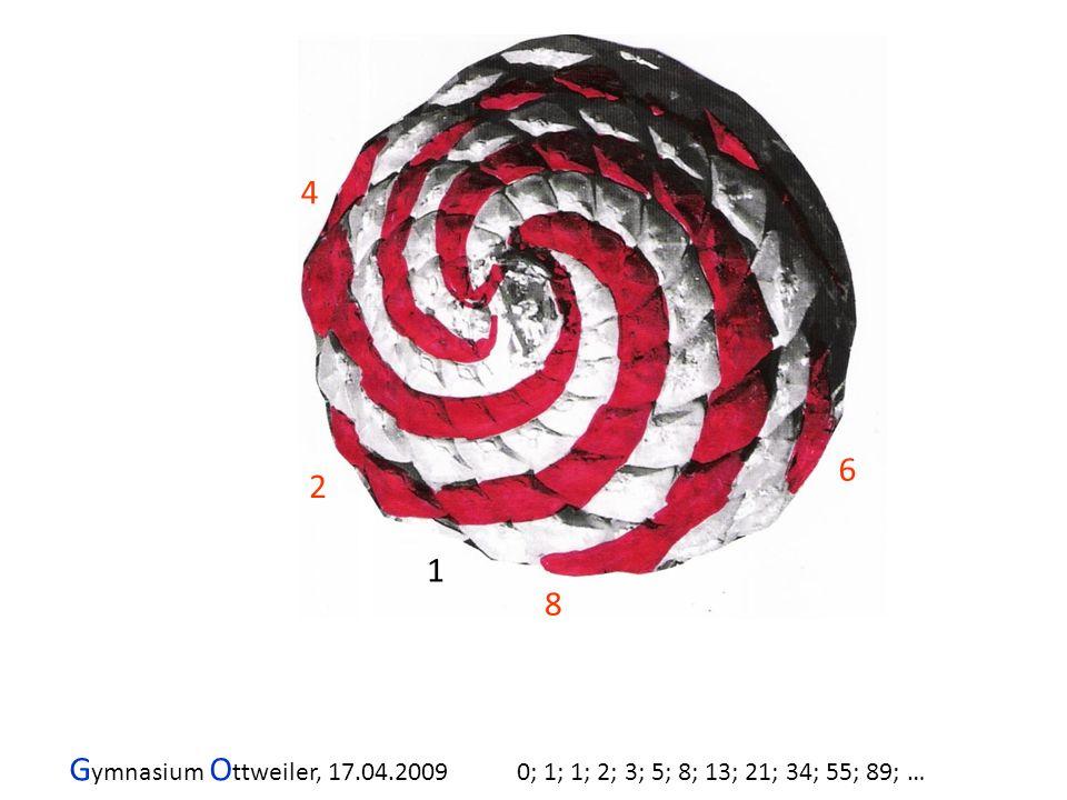 G ymnasium O ttweiler, 17.04.2009 0; 1; 1; 2; 3; 5; 8; 13; 21; 34; 55; 89; … 2 4 6 8 1