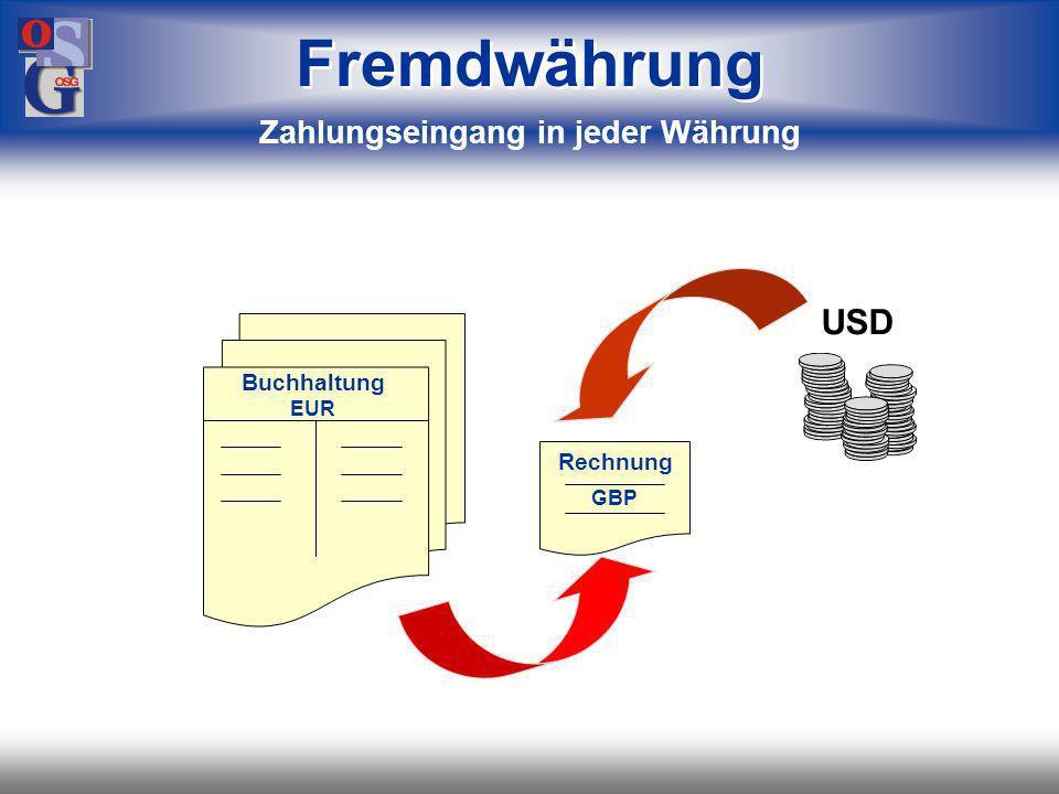 OSG 40 Buchhaltung EUR Rechnung CHF Fremdwährung Erstellen von Rechnungen in Fremdwährung
