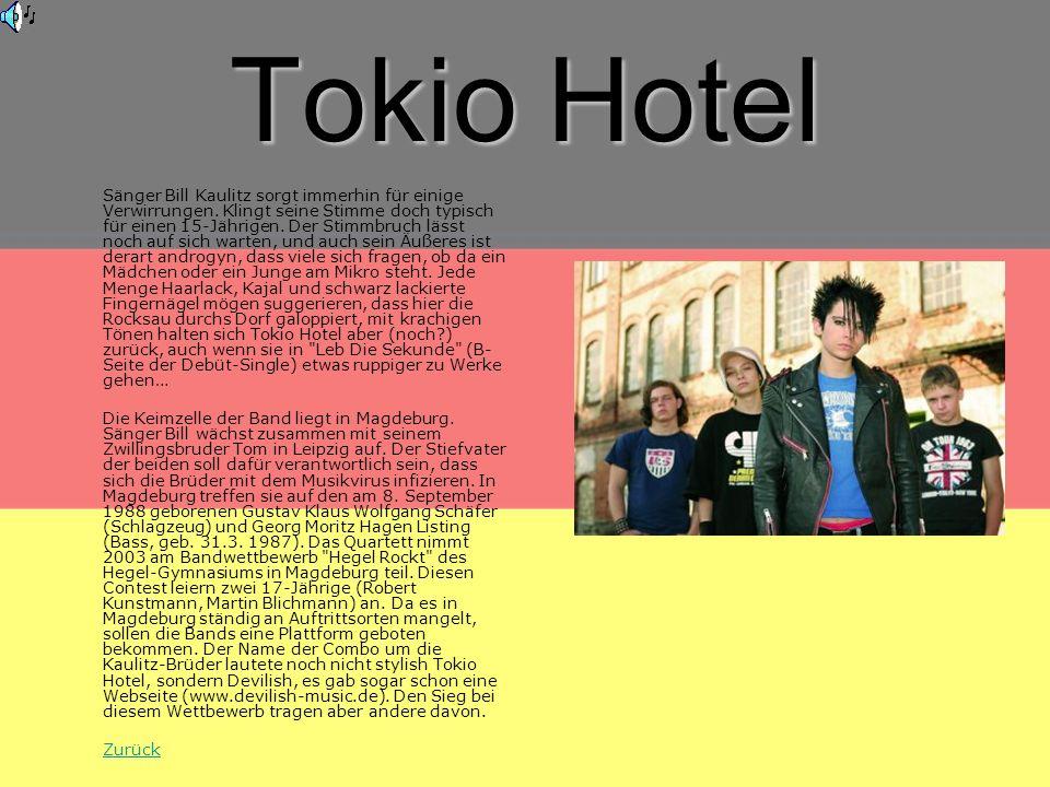 Tokio Hotel Sänger Bill Kaulitz sorgt immerhin für einige Verwirrungen.