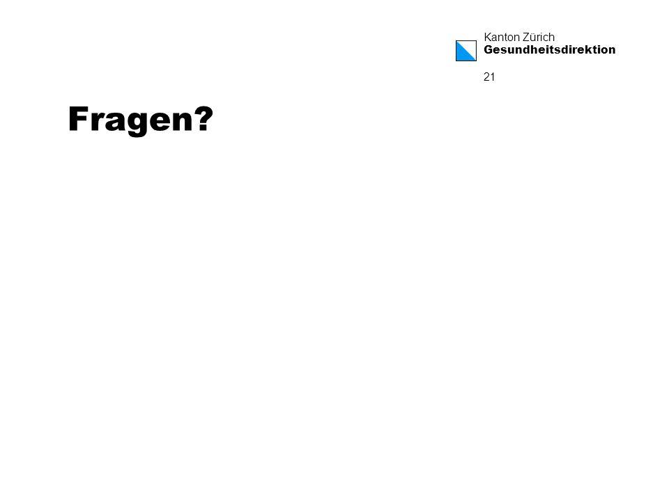 Kanton Zürich Gesundheitsdirektion 21 Fragen?