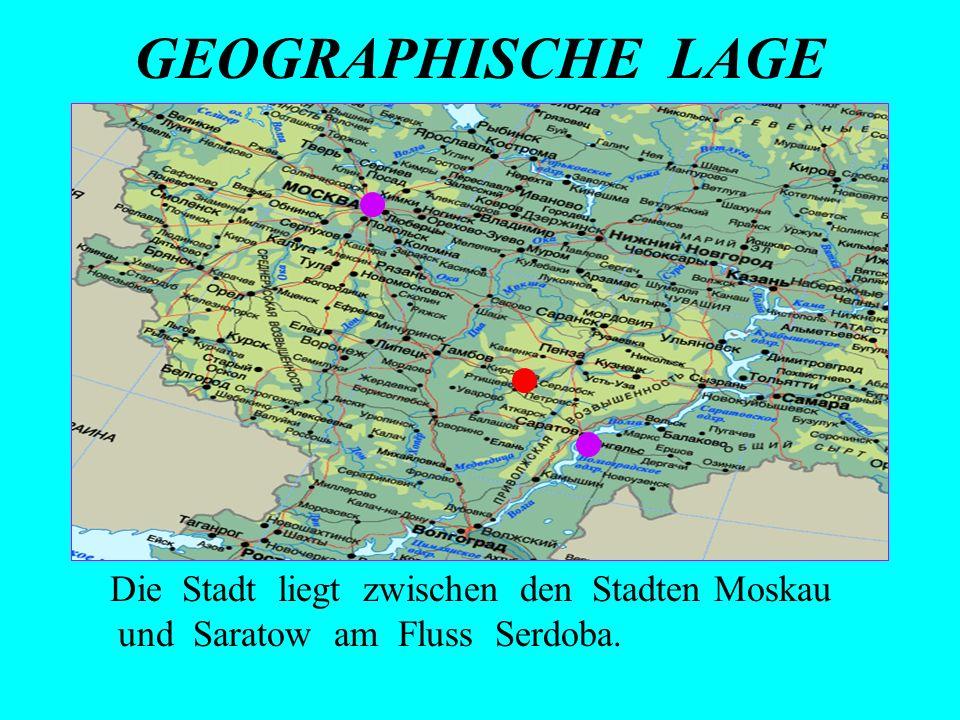 KARTE VON SERDOBSK UND KREISWAPPEN Serdobsk ist klein.