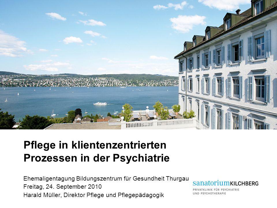 Pflege in klientenzentrierten Prozessen in der Psychiatrie Ehemaligentagung Bildungszentrum für Gesundheit Thurgau Freitag, 24. September 2010 Harald